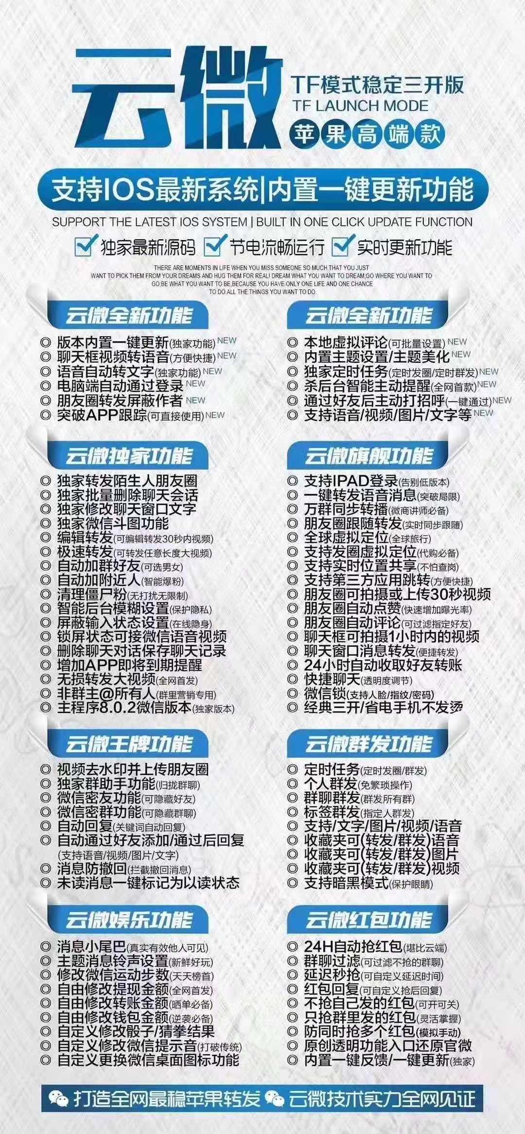 【苹果云微激活码】一码三开/超级防封/云微新品/震撼全网
